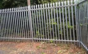 Public Area Steel Palisade Fencing Silver Stone Country Estate